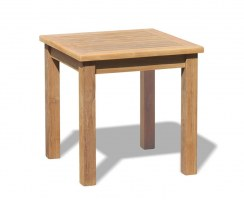 Square Tea Table, Teak Side Table - 0.6m