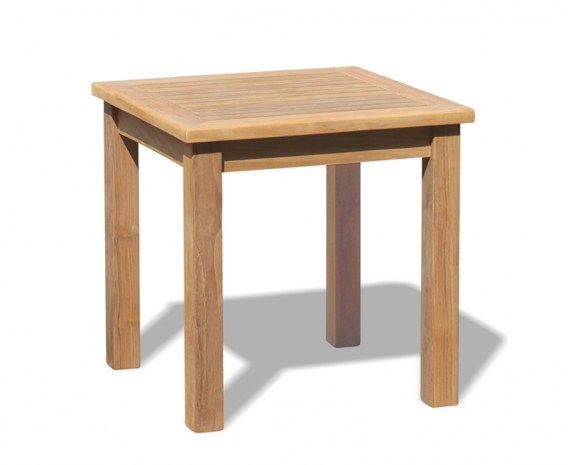 Hilgrove Square Tea Table, Teak Side Table - 0.6m