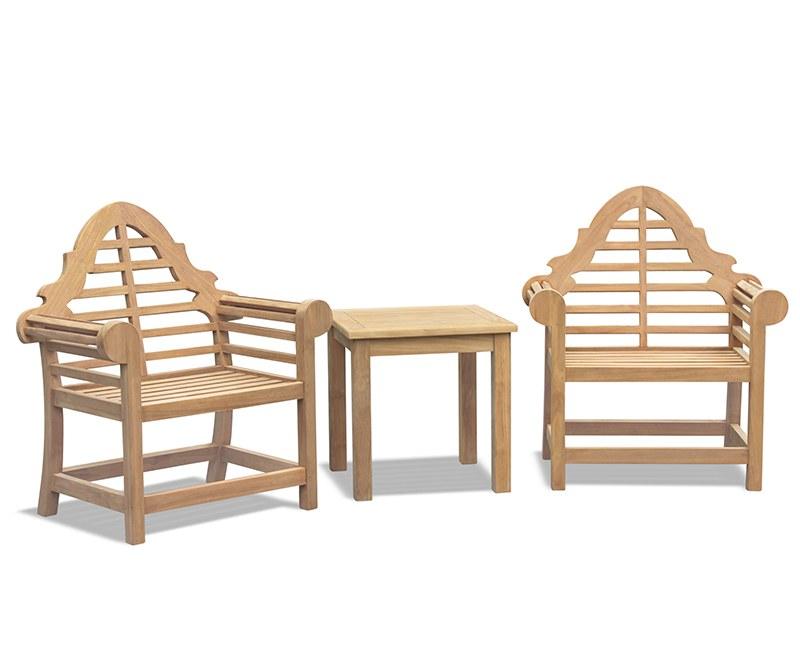 Lutyens-Style Teak 2 Seater Garden Set