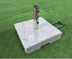 granite parasol base with handle