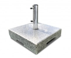 70kg Granite Parasol Base with Wheels and Telescopic Trolley Handle