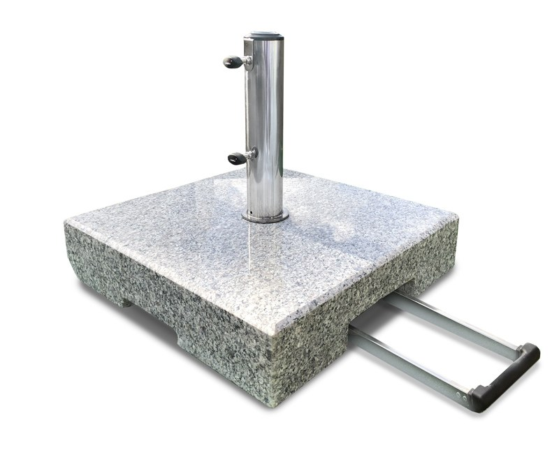 70kg Granite Parasol Base With Wheels And Telescopic