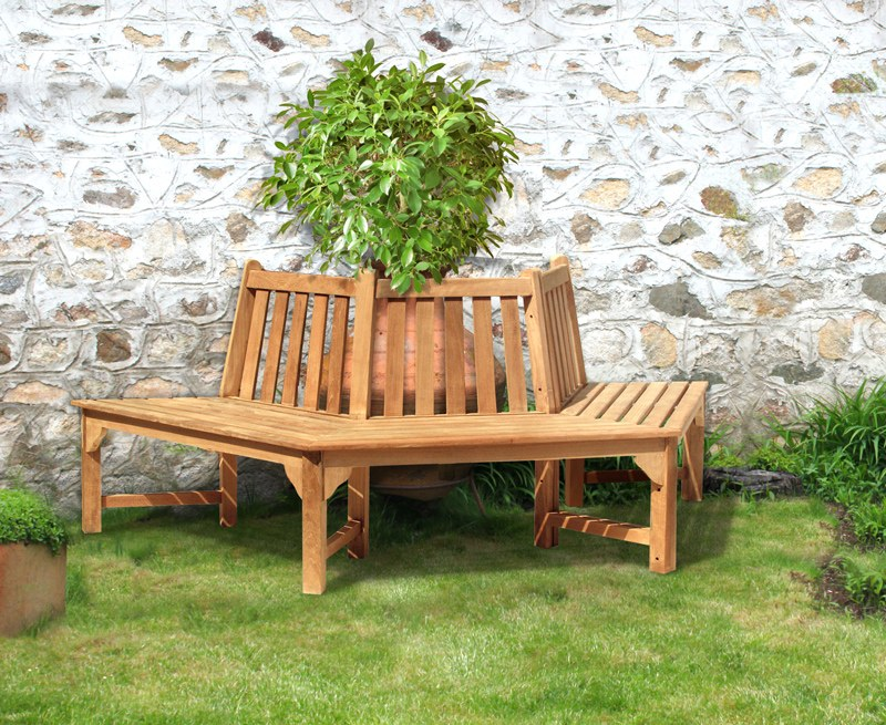 Hexagonal Teak Half Tree Seat