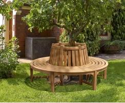 Circular Tree Seat, Teak Tree Bench, Round – 1.8m