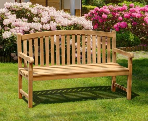 Clivedon 3 Seater Garden Bench, Teak – 1.5m