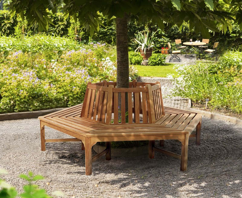 Hexagonal Tree Seat – Wrap-around Tree Bench