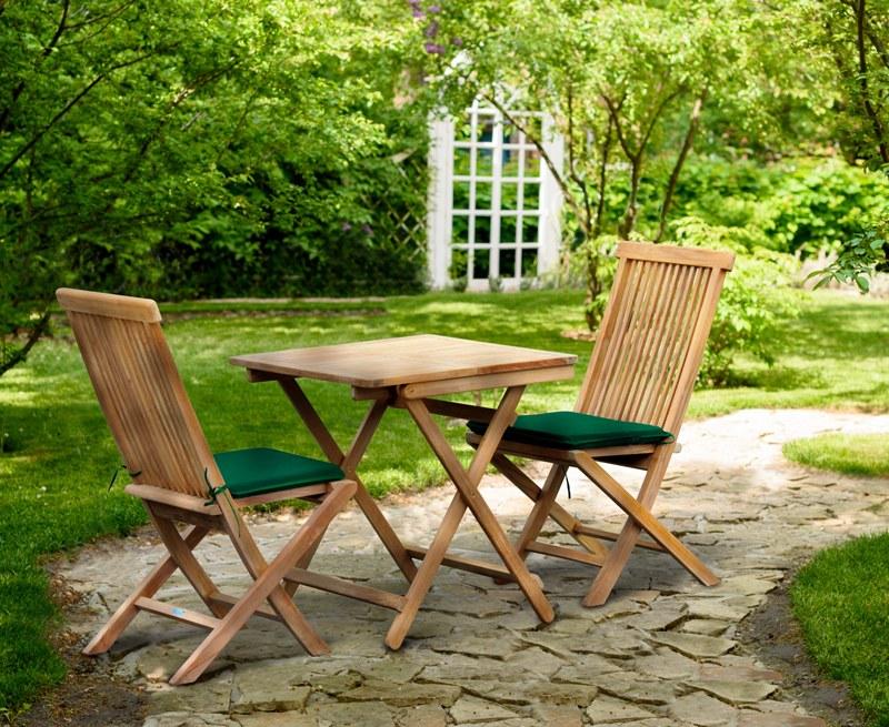 Rimini Square 0.7m Table & 2 Ashdown Side Chairs