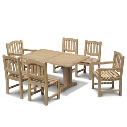 Cadogan 6 Seater Garden Table 1.5m, Ascot Side Chairs & Carver Chairs