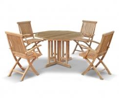 Berrington Octagonal 1.2m Table & 4 Brompton Armchairs