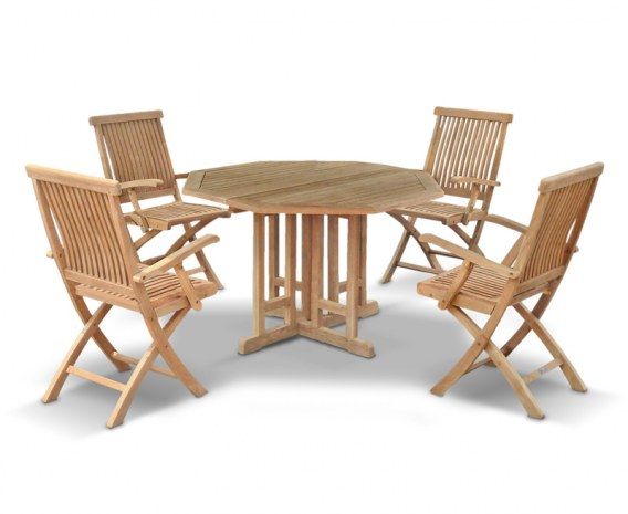Berrington Octagonal 1.2m Table & 4 Brompton Armchairs