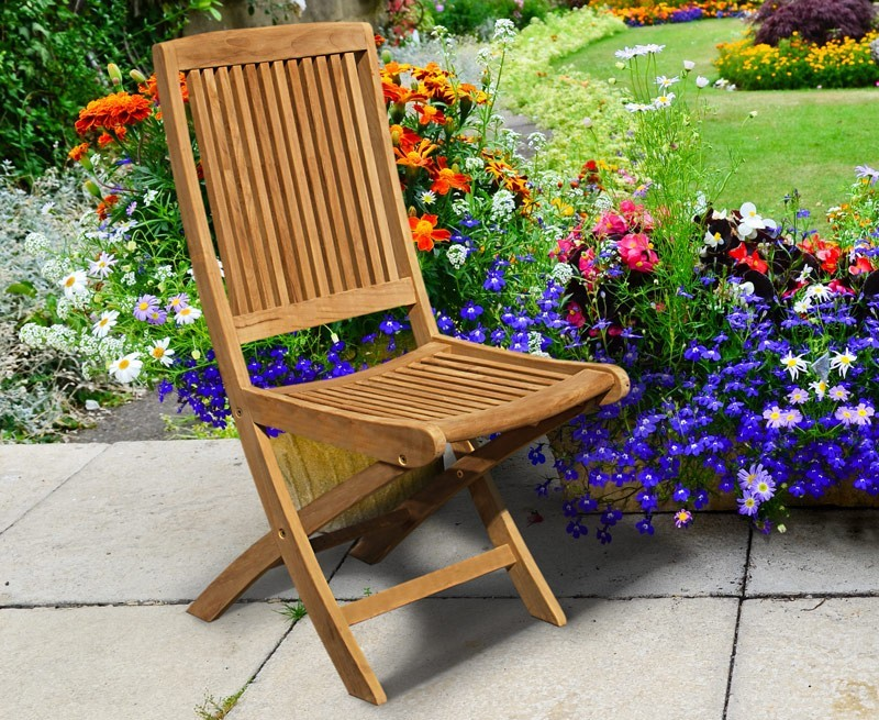 Rimini Wooden Garden Chair Foldable Dining Chair