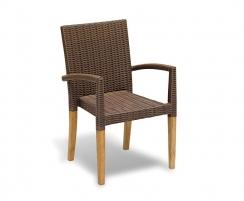 Sandringham Rectangular 1.5m Table & 6 St. Tropez Stacking Chairs