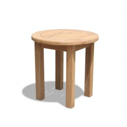 Teak Occasional Table, Round Garden Side Table