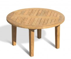 Hilgrove Round Teak Garden Coffee Table – 0.9m