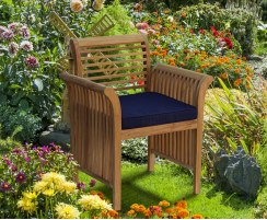 modern stylish garden armchair