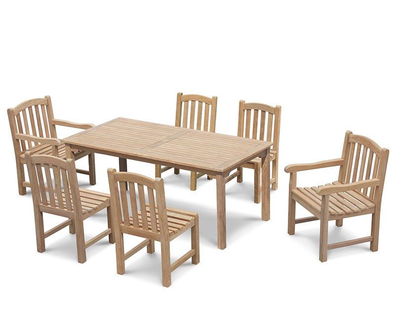 Sandringham 6 Seater Garden Table 1.8m with Clivedon Chairs