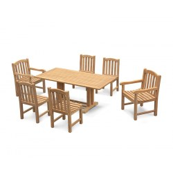 Cadogan Pedestal Table 1.8m with 6 Clivedon Side and Armchairs