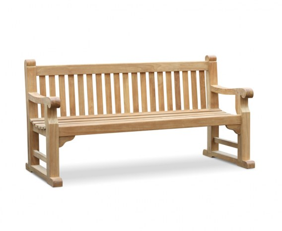 Hyde Park Teak Sled Bench - 1.8m