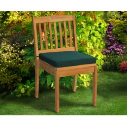 Hilgrove Outdoor Stacking Chair, Teak Stackable Garden Chair