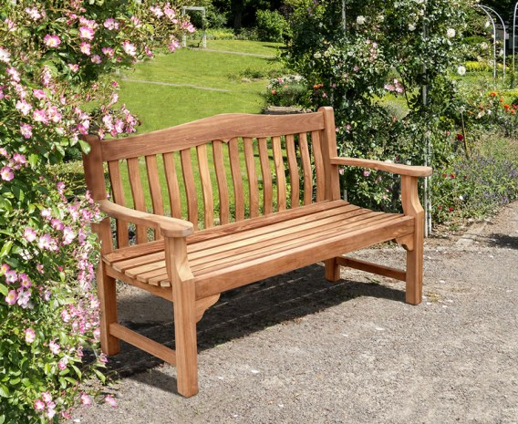 Teak Rose Garden Bench 1 5m