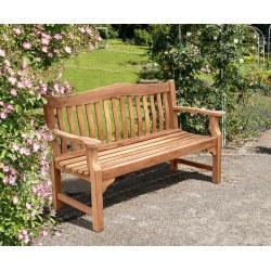 Teak Rose Garden Bench - 1.5m