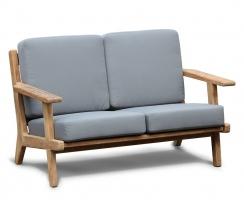 Eero Mid-Century Deep Seated Teak Garden Sofa, 2 Seater