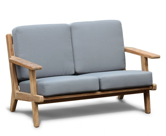 Eero Mid-Century Deep Seated Teak Garden Sofa, 2 Seater
