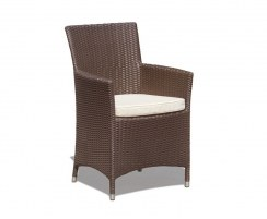 Cadogan Teak Wood Pedestal Table 2m & 6 Riviera Rattan Chairs