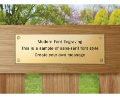 Engraved Memorial Plaque, Commemorative Bench Plaque