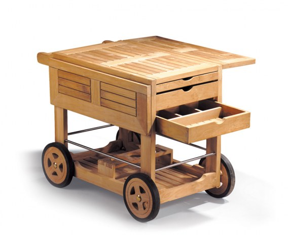 Drinks Trolley, Teak Wood