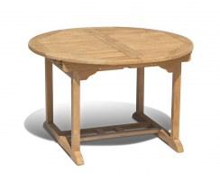 Teak Extending Garden Table - Closed