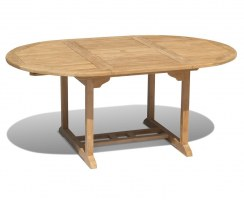 Teak Extending Garden Table - Open