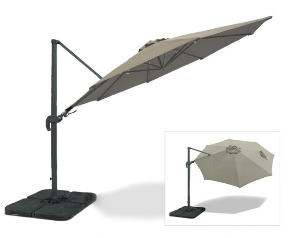 121677fae 3m Cantilever Parasol with cover, 2-way tilting – Umbra®
