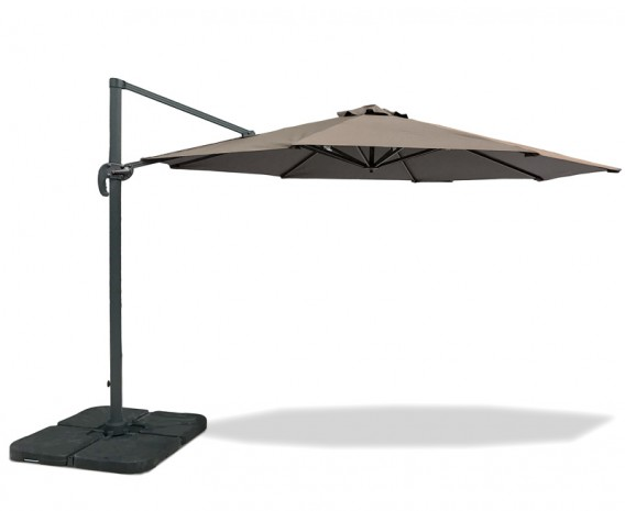 Umbra® 3.5m Extra Large Cantilever Parasol, Round, with cover