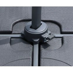 Umbra® Square Cantilever Parasol, Large – 3 x 3m