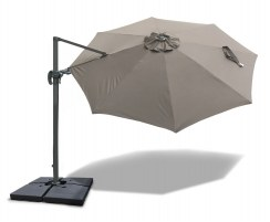 3m Cantilever Parasol with cover, 2-way tilting – Umbra®