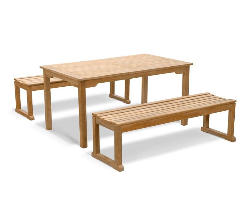 Sandringham Teak Table and Benches Set 1.5m