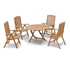 Suffolk Round 1.2m Table & 4 Cheltenham Reclining Chairs