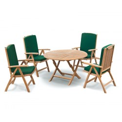 Suffolk Round 1.2m Table & 4 Cheltenham Reclining Chairs