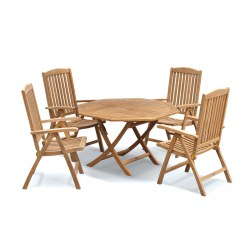 Suffolk Octagonal 1.2m Table & 4 Cheltenham Reclining Chairs