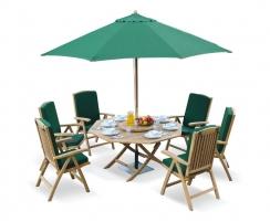 Suffolk Octagonal 1.5m Table & 6 Cheltenham Reclining Chairs