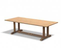 Cadogan Teak Garden Pedestal Table – 1.1 x 2.6m