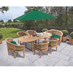 Wimbledon Teak Garden Dining Furniture Set