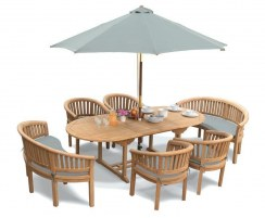 Wimbledon Teak Garden Dining Furniture Set