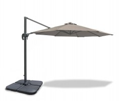 Umbra® 3m Cantilever Garden Parasol - Taupe + PB120 base add-on