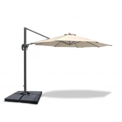 Umbra® 3m Cantilever Garden Parasol - Natural + PB140 add-on