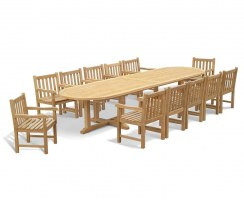 12 Seater Patio Set with Hilgrove Oval 4m Table & Armchairs