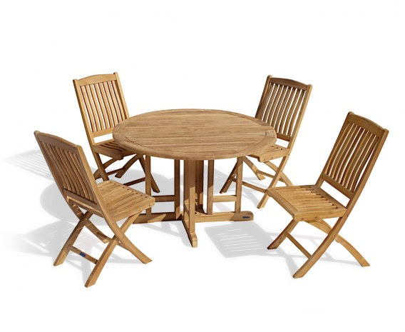 Berrington Round Gateleg 1.2m Table & 4 Bali Side Chairs