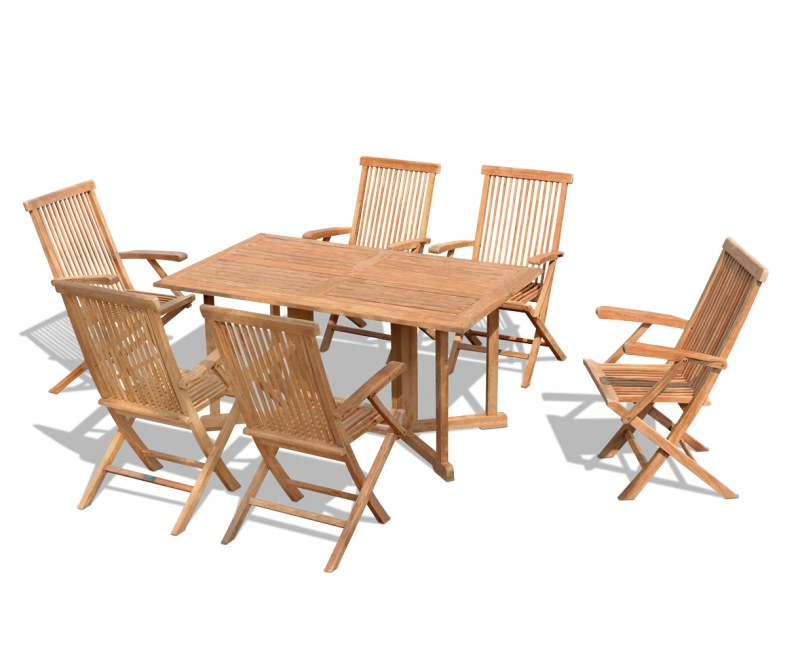 Shelley 6 Seater Gateleg Table and Folding Chairs