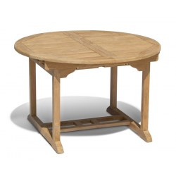 Brompton Teak Extending Table - Closed